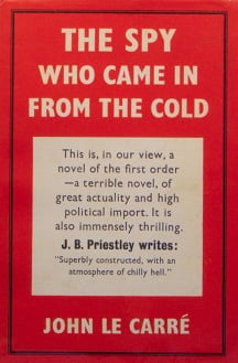 """The Spy Who Came in from the Cold"" by John le Carre First Edition (Book cover)"